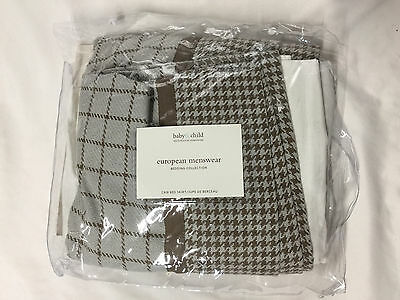 Restoration Hardware European Menswear Plaid/Houndstooth Crib Bed Skirt
