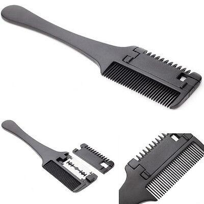 Hair Razor-Comb-Scissor-Professional-Home-Thinning Trimmer-Hairdressing-black
