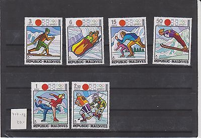timbres NEUF  Maldives winter sport  Sapporo 72 Stamps NEUF ** of the Maldives