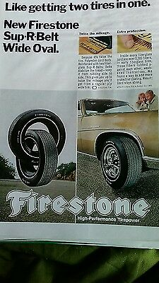 ad on Firestone tires 60s