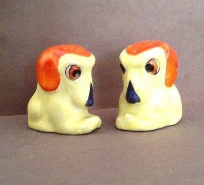 Miniature Yellow Dogs Made In Germany Vintage Salt & Pepper Shakers - Goebel ?