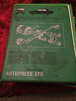 Hillman New Minx Workshop Manual