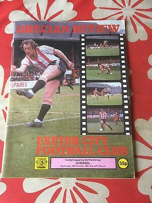Exeter City v Liverpool league cup 1981
