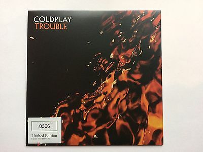 """Coldplay Trouble 7"""" Record Single Rare LIMITED EDITION"""
