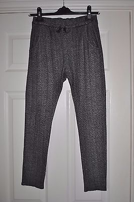 Girls Grey Print Trousers From Zara Size 11-12 Years