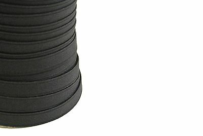 6mm 12mm 20mm Flat Corded Elastic In Black For Sewing Crafts Various Lengths