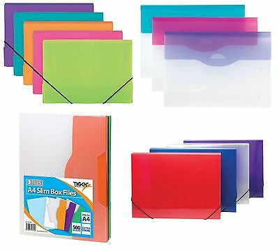 DOCUMENT BOXES - BOX FILES Organiser Folder Pocket Subject Storage Wallet{Tiger}