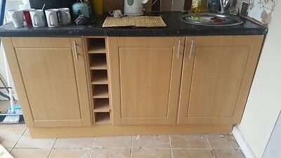 kitchen units - including stainless steel sink