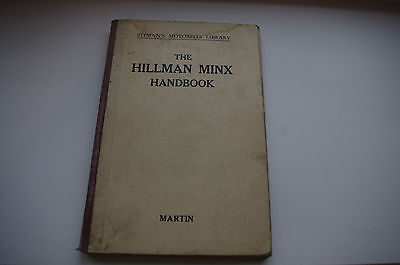 Hillman Minx Handbook For All Models 1932-1937