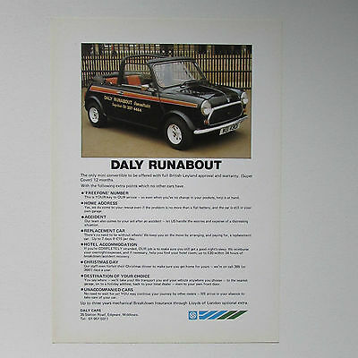 Mini Convertible (Daly Runabout) Brochure