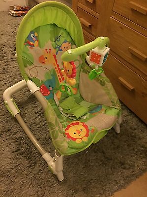 Fisher price rainforest newborn to toddler portable rocker chair / baby bouncer