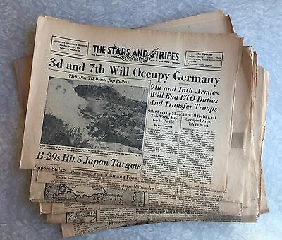 Lot of 22 The Stars and Stripes newspaper Southern Germany Edition May-June 1945