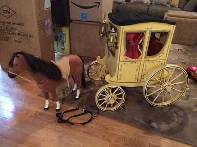 American Girl Doll Felicity Colonial Carriage With Horse Penny