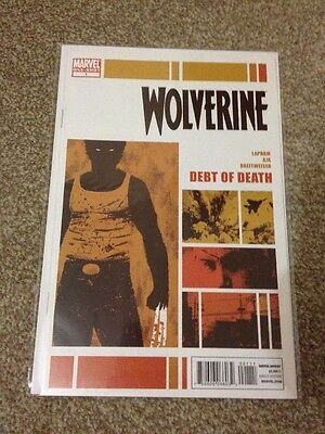 Marvel Comics -wolverine debt of death #1 - One Shot - Great Condition