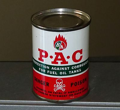 Rare BA British American P*A*C (Protection against corrosion) tin can motor oil