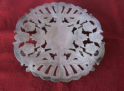 """Vintage Wallace 7331 Footed Silver Plated And  Expandable Trivet: 6"""" - 10"""""""