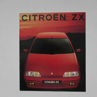 Citroen ZX Brochure including Volcane (1991)