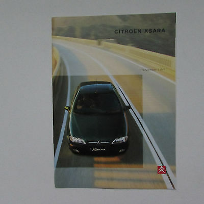 Citroen Zsara Brochure including VTS (1997)