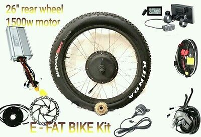 48V 1500W ELECTRIC FAT BIKE REAR WHEEL CONVERSION KIT - LCD without battery