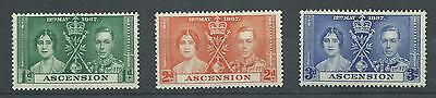 Ascension Island - 1937 - SG35 To SG37 - CV £ 2.25 - Mounted Mint - Ref 4064