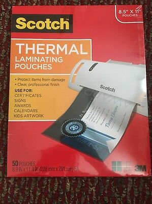 Scotch Thermal Laminating Pouches 8.5 X 11-Inches, 50 - Pack ... New