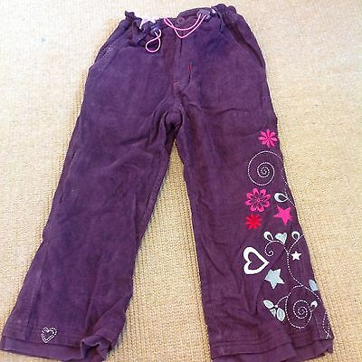 Frugi girls burgundy cord trousers in size 4-5 years