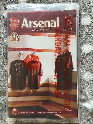 Arsenal v Wigan 2005/06 LAST EVER MATCH AT HIGHBURY Football Programme