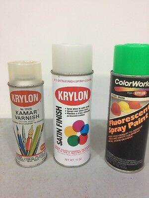 Vintage Krylon Spray Paint Cans Lot Of 3