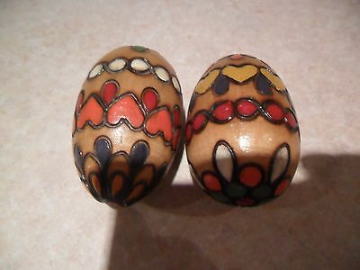 wooden decorated eggs