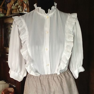Ladies White Blouse Western or other Re-enactment