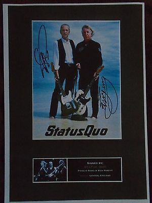 Signed A4 Print of Iconic Rock Band Status Quo, Francis Rossi & Rick Parfitt