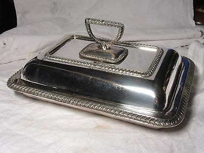 Vintage JAMES DIXON & Sons Silver Plated COVERED SERVING ENTREE DISH 1.85kg