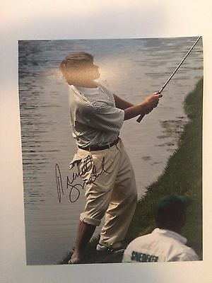 REALLY COOL MASTER PHOTO SIGNED BY Brandt Snedeker 8x10 Photo IN PERSON W/COA