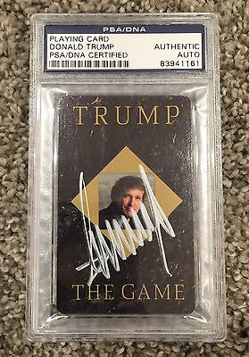 Donald Trump Signed Trump The Game Original Playing Card- Psa /dna Encapsulated!