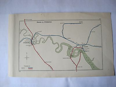 1928 RAILWAY CLEARING HOUSE Junction Diagram No.116  ALLOA & STIRLING.