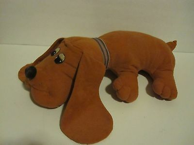 "Vtg 18"" Rust Red Generic Knockoff Adult Pound Puppy Puppies Stuffed Dog Collar"