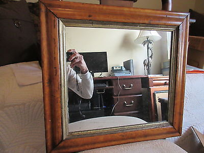 """18"""" by 17"""" Maple Framed Antique Pennsylvania Mirror"""