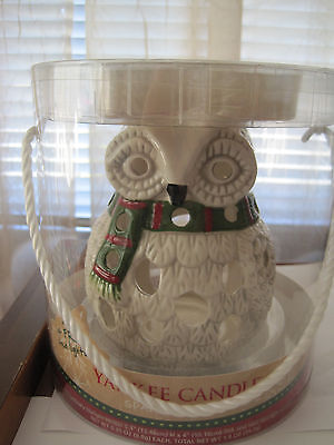 New Yankee Candle Holiday Owl tealight holder Chirstmas winter