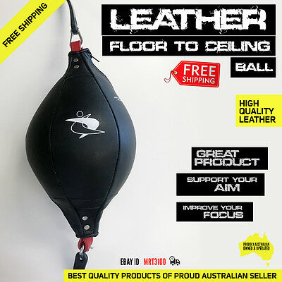 Leather Double End Speed Dodge Ball to MMA Boxing Punch Bag Floor Ceiling AU