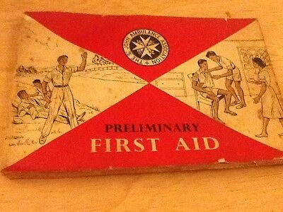 St Johns ambulance Preliminary First Aid Book C1963