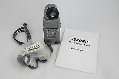 Sekonic Flash Master L-358 Light Meter and Up/Down Ring Assembly