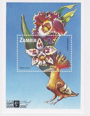 Zambia - Orchids, Flowers, 2000 - Sc 875 S/S MNH