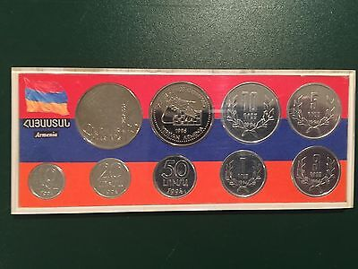 COINS Armenia 1996 Chess Olympiad 1997 Charents 1994 Uncirculated Set Dram Money