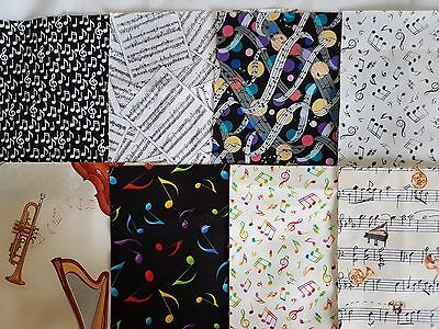 "Music fabric pack 24 x 6 1/2"" squares"