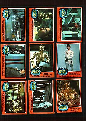 1977 Topps Star Wars Cards Series 5 Orange.. Ex.to Some Near Mint Condition.
