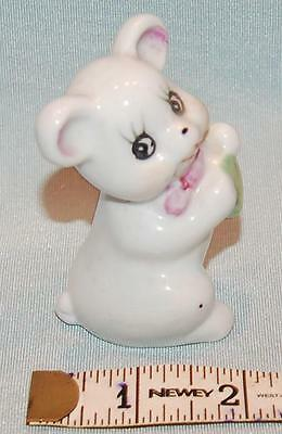 """Vintage Ceramic Pottery China Comical Mouse Figurine 3"""" (7.5cm) Height c1960s"""
