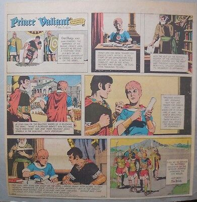 Prince Valiant Sunday by Hal Foster from 2/6/1972 2/3 Full Page Size