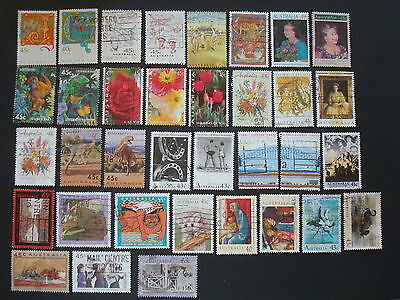 1990-1994 - 35 x Used Australian Sheet Stamps  - #8
