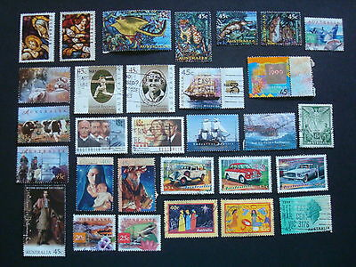 1995-1999 - 30 x Used Australian Sheet Stamps  - #5
