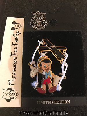 Disney LE Pin Marionette Puppet REAL Strings Pinocchio MOVES NEW FREE SHIP